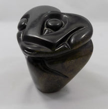 Zimbabwe Sculpture Shona Stone Owl by Taurai Nyawude right side view