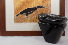 Zimbabwe Sculpture Shona Stone Owl by Taurai Nyawude with print