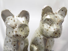 Rare Arthur Court Cat Statues-Hand Signed two faces close up