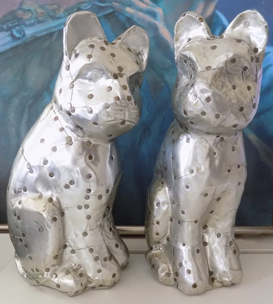 Rare Arthur Court Cat Statues-Hand Signed with painting