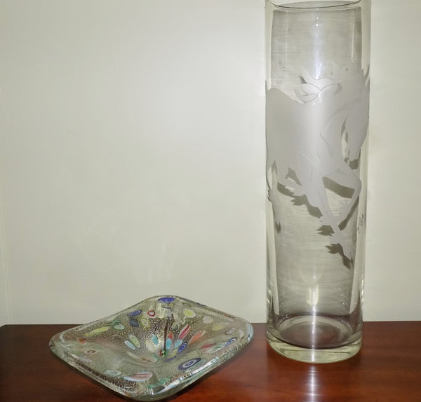 clear crystal vase
