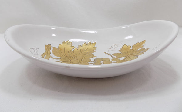 Mid Century Modern Zaccagnini Bowl Italian Gilded Art Pottery 1937-1958