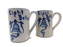 "Stoneware Dorchester Pottery Works Pair of Mugs by Knesseth Denisons ""Eight Bells"""