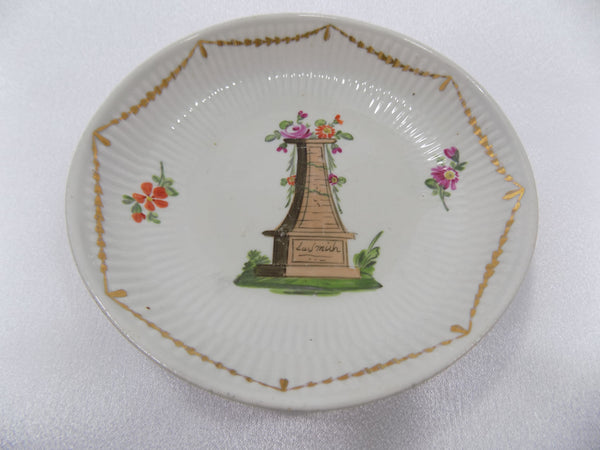 Antique Wallendorf, Germany Hand Painted Porcelain Bowl 1787-1833 In Memoriam main view