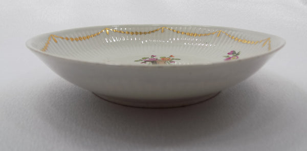 Antique Wallendorf, Germany Hand Painted Porcelain Bowl 1787-1833 In Memoriam side view