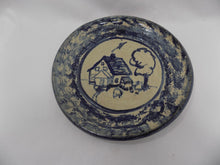 Carole Berhorst Vintage 1991 Stoneware Dish Signed and Dated Country House and Tree