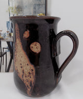 Scandinavian Vintage Danish Modern Art Pottery Pitcher by Frederik Ravnild handle right