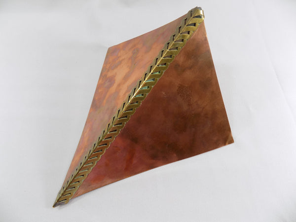 Modern Copper and Brass Wall Vase by Higgins California flat view