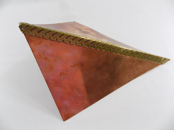 Modern Copper and Brass Wall Vase by Higgins California turned right
