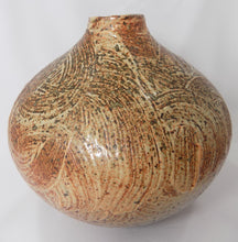 Stoneware, Large, Carved, and Textured Pot Signed Jens side two