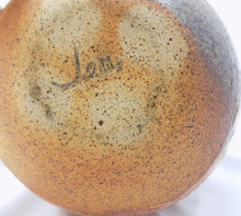 Stoneware, Large, Carved, and Textured Pot Signed Jens bottom mark highlighted in pencil