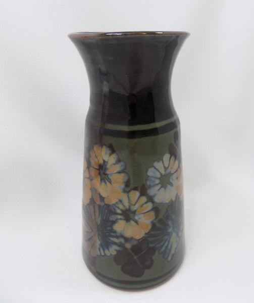 Apple Lane Pottery Vase by Bill Nagengast Michigan Potter dark side