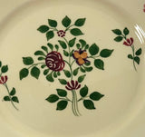 Adams Royal Ivory Titian Ware Salad Plates Floral Staffordshire China center view