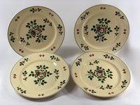 Adams Royal Ivory Titian Ware Salad Plates Floral Staffordshire China Set of Four main front views