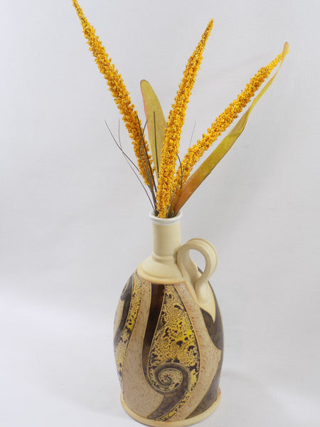 4709 Hand Made Pottery Jug with gold handle -dried flowers-2736 x 3648.jpg
