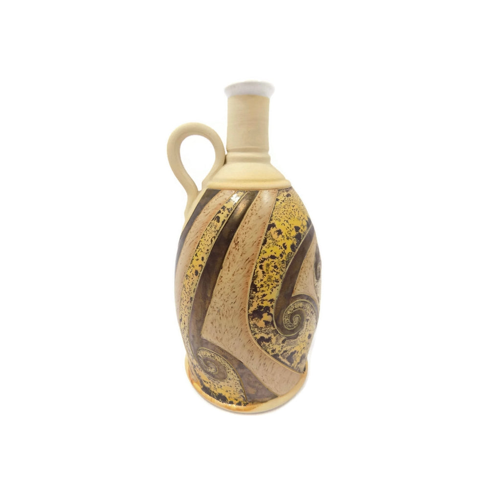 4709 Hand Made Pottery Jug with gold main-WO-pyh -1000 x 1000.jpg