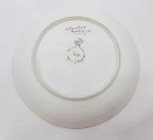 Hutschenreuther Porcelain Antique Bavarian Plate full back view