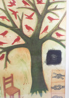 4766 Margaret Van Patten Original Print - Observing Memory close up Chair-birds-rope tree-1612 x 2272.jpg
