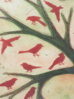 4766 Margaret Van Patten Original Print - Observing Memory close up birds tree branches-1704 x 2272.jpg