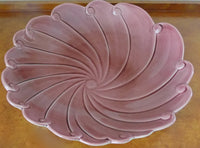 California Pottery Flower Bowl Signed Harold Johnson 1940s pictured on wood chest