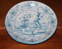 4815 Vintage Spanish Pottery Wall Plate by Cases on wood hutch-3206 x 2530.jpg