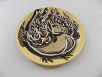 4890 Vintage Pat Custer Denison Pottery Plate Fat Dove flat view-3648 x 2736.jpg