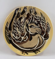 4890 Vintage Pat Custer Denison Pottery Plate Fat Dove front view-2731 x 2925.jpg