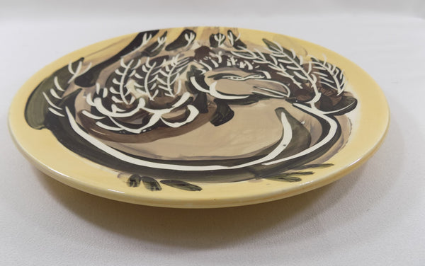 4890 Vintage Pat Custer Denison Pottery Plate Fat Dove rim view-3466 x 2173.jpg
