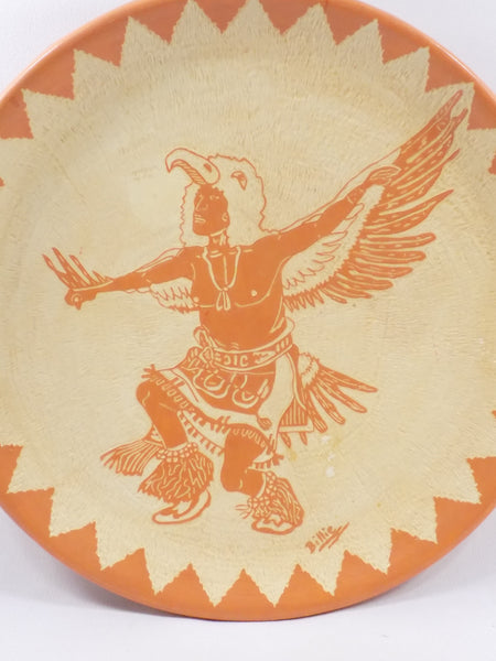 4901 Vintage Pottery Plate - Indian Dancing close up-1-2736 x 3648.jpg