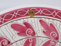 4905 elle Norway Large Pottery Bowl - Original Label - Sgrafitto Leaves -label close up-2272 x 1704.jpg