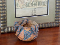 4907 Vintage RARE Art Pottery Bowl by Janet Hasegawa-with Japanese art-2401 x 1784.jpg