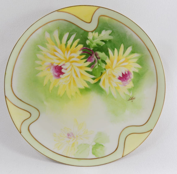 4918 Antique Coronet Porcelain Plate -  Limoges France - Signed By Albers - Front View-b-2473 x 2422.jpg