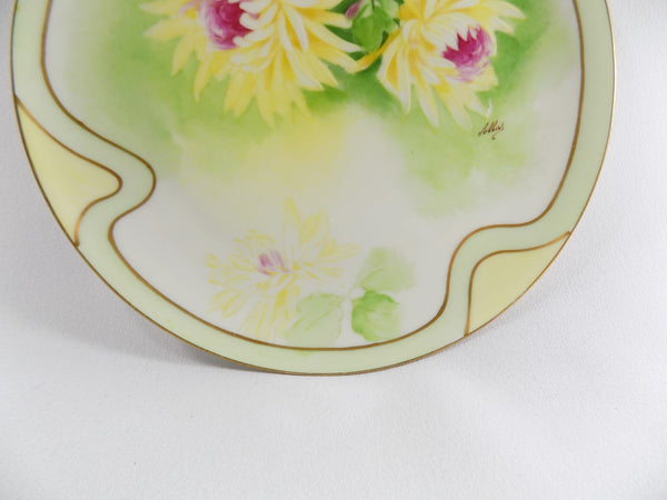 4918 Antique Coronet Porcelain Plate -  Limoges France - Signed By Albers - bottom front of plate-3648 x 2736.jpg