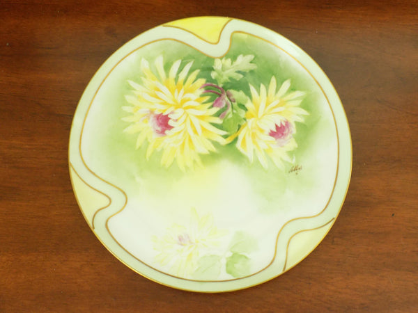 4918 Antique Coronet Porcelain Plate -  Limoges France - Signed By Albers - on wood-3638 x 2736.jpg
