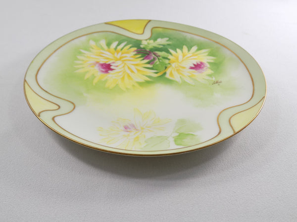 4918 Antique Coronet Porcelain Plate -  Limoges France - Signed By Albers flat view of plate-3648 x 2736.jpg