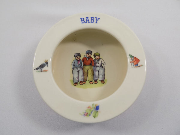4923 Vintage 1930s Baby Dish - Czechoslovakia - front top view-2272 - 1704.jpg