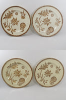 4931 Antique French Faience Plates - Set of Four - Le Grand Depot - Paris -all four front view-3648 x 5472.jpg