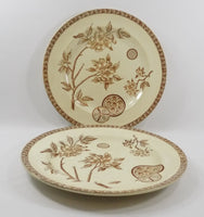 4931 Antique French Faience Plates - Set of Four - Le Grand Depot - Paris  one up one flat-y-2736 x 2911.jpg