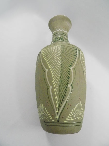 4932 Vintage Green Sandstone Mexican Vase - side view-2736 x 3648.jpg