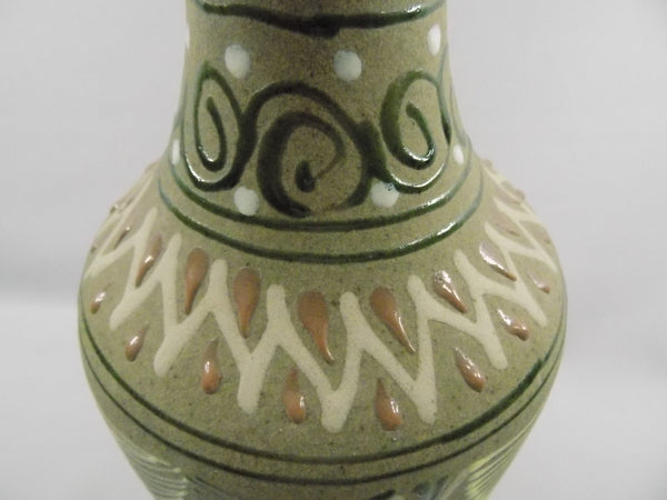 4932 Vintage Green Sandstone Mexican Vase top design close up-3648 x 2736.jpg