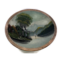 4933 Vintage Hand Painted Wooden Bowl Sailboat and Mountains inside view-WO-P-PYH-1000 x 1000.jpg
