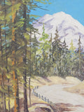4936 Vintage Oil painting on Board - Bertha Hatton Duke - Oregon Scene - close up front snow mt. view-2736 x 3648.jpg