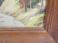 4936 Vintage Oil painting on Board - Bertha Hatton Duke - Oregon Scene close up signed area lower front right-3648 x 2736.jpg