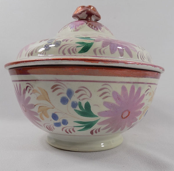 4939 Antique Pink Lustreware Lidded Waste Bowl base up view-1200 x 1175.jpg
