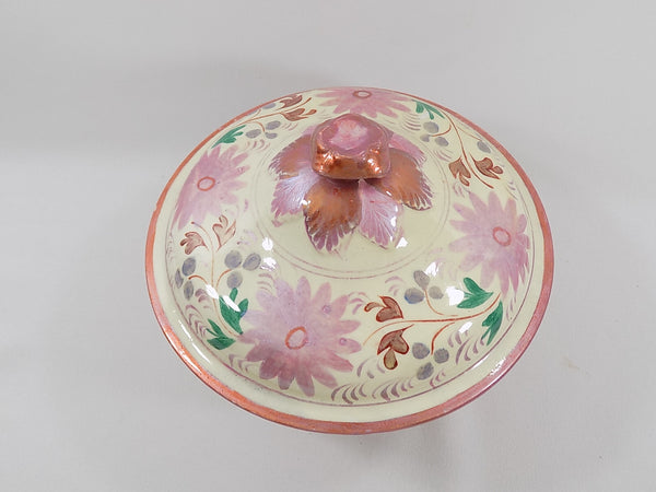4939 Antique Pink Lustreware Lidded Waste Bowl lid view-1600 x 1200.jpg