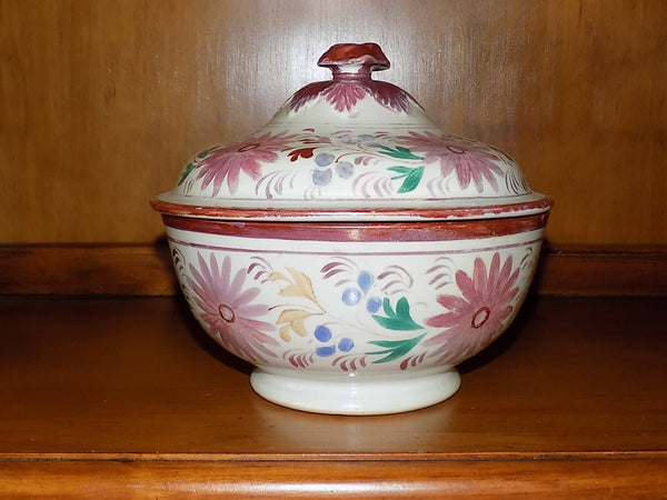 4939 Antique Pink Lustreware Lidded Waste Bowl on hutch-1600 x 1200.jpg