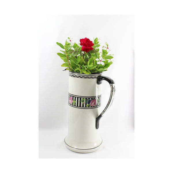 4945 Art Deco Tall Tankard Pitcher -with flowers -pyh-1000 x 1000.jpg