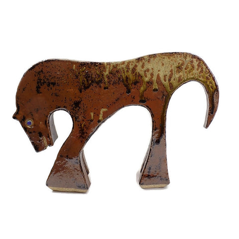 4946 MCM Pottery Horse - Drip Glaze - Signed -Facing Left-WO-PYH-1000 x 1000.jpg