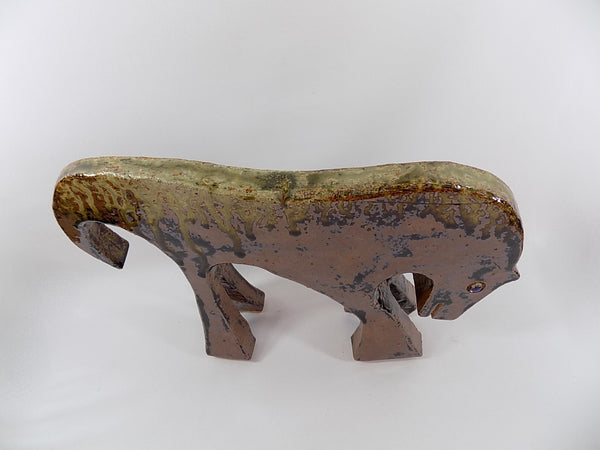 4946 MCM Pottery Horse - Drip Glaze - Signed - Top view-1600 x 1200.jpg