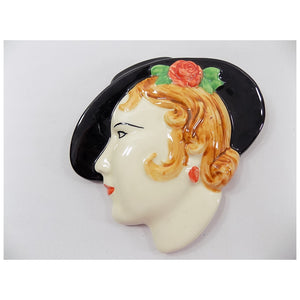 4961 Vintage Art Deco Wall Mask- Moorland Pottery Lady Head - England  Clarice Cliff Style - main -PYH-1000 x 1000.jpg